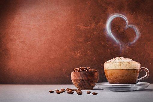 Coffee, Coffee Beans, Background, Caffeine, Cappuccino