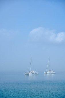 Boat, Ocean, Sea, Catamaran, Sail, Clouds, Sailing