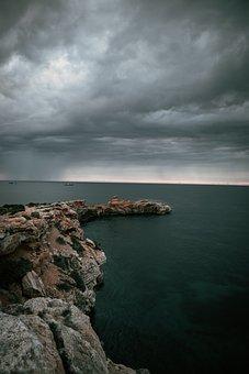 Cliff, Coast, Sea, Ibiza, Island, Mediterranean, Rocks