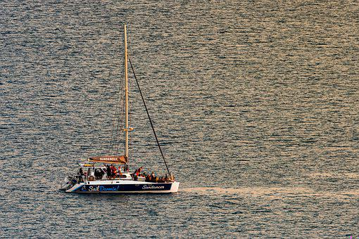 Boat, Yacht, Ocean, Sailboat, Sea, Sail