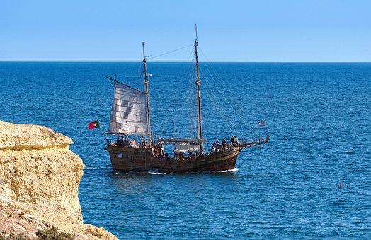 Ship, Pirate, Ocean, Sea, Sailing, Sail, Tourist, Tour