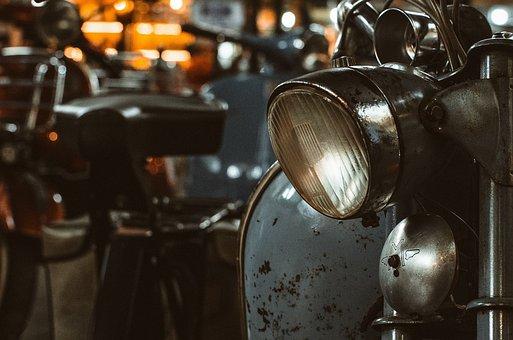 Motorbike, Vehicle, Vespa, Antique, City, Urban, Old
