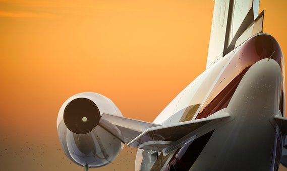 Aircraft, Plane, Engine, Sunset, Private Jet, Airport