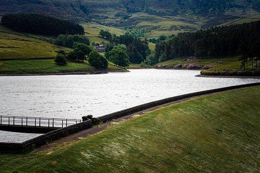 Kinder Reservoir, Reservoir, Countryside, Lake, Water