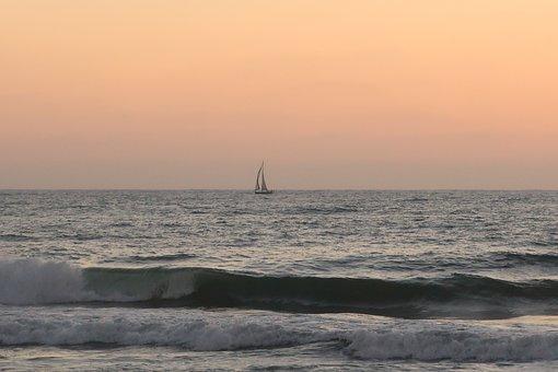 Boat, Sea, Sunset, Sailing, Sailboat, Sailing Boat