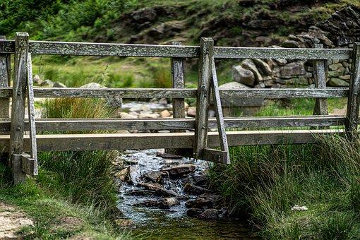 Bridge, Stream, Nature, Wooden Bridge, Footbridge