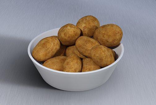 Potato, Bowl, Plate, Vegetables, Tuber, Agriculture