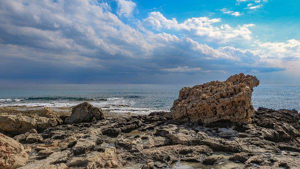 Beach, Rocky Coast, Ayia Napa, Sea, Ocean, Coast, Rocks