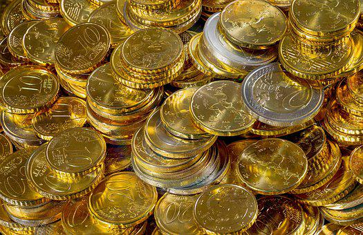 Money, Coins, Euro, Currency, Savings, Income