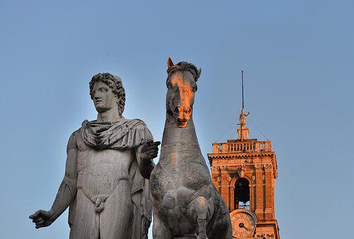 Monument, Statue, Ruins, Tower, Building, Italy, Europe