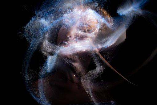 Woman, Face, Light Painting, Light, Girl, Portrait