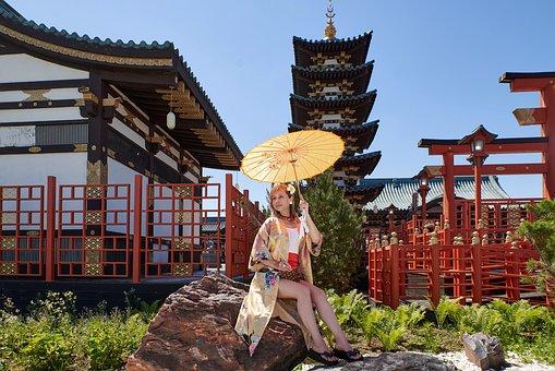 Japanese Garden, Oriental Style, Art, Design
