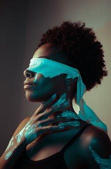Beauty, Woman, Portrait, Blindfold, Model, Fashion