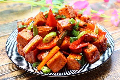 Tofu, Soy, Meal, Vegetables, Vegan, Food, Vegetable