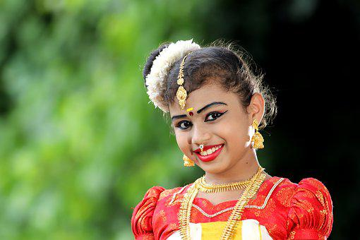 Girl, Indian, Kerala Dress, Portrait, Traditional, Cute