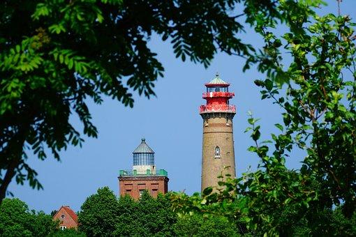 Lighthouse, Towers, Cape Arkona, Rügen, Buildings