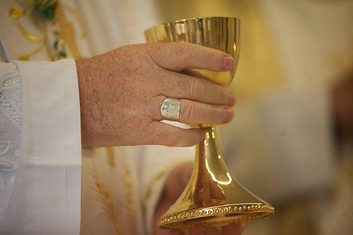 Mass, Bishop, Chalice, Ring, Hand, Catholic, Religion