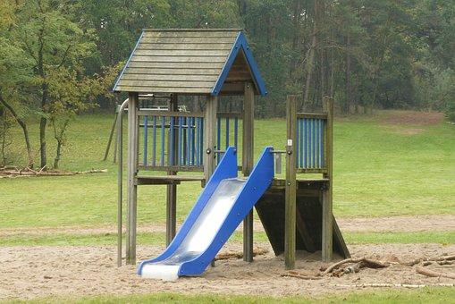 Slide, Children's Playground, Park, Play