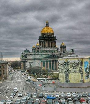 Saint Isaac's Cathedral, Church, City, Saint Petersburg