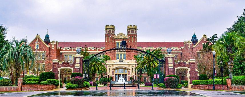 Building, Bricks, Fountain, Gate, Entrance
