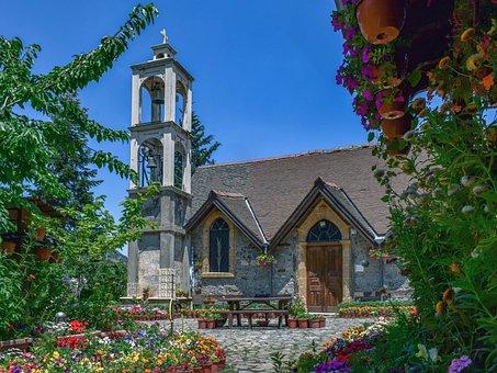 Church, Building, Architecture, Garden, Religion