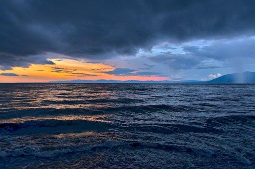 Sea, Waves, Cloudy, Sky, Clouds, Dark Clouds, Ocean
