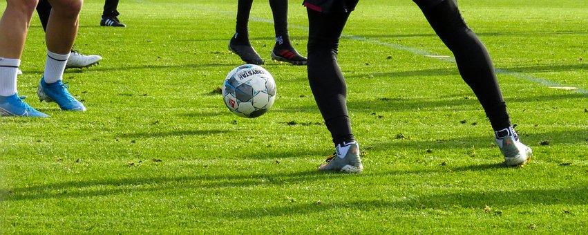 Football, Players, Sport, Ball, Training