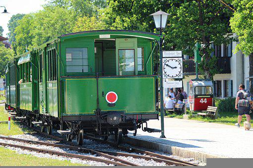 Train, Railroad, Prien, Chiemsee, Bavaria, Station