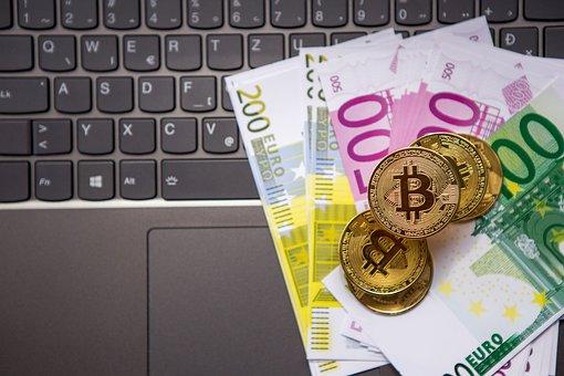 Money, Euro, Bitcoin, Btc, Cryptocurrency
