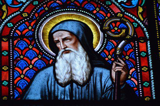 Stained Glass, Church, Window, Holy Man