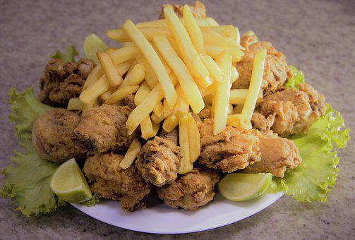 Fried Chicken, Fries, Food, Dish, Chicken, Meat, Meal