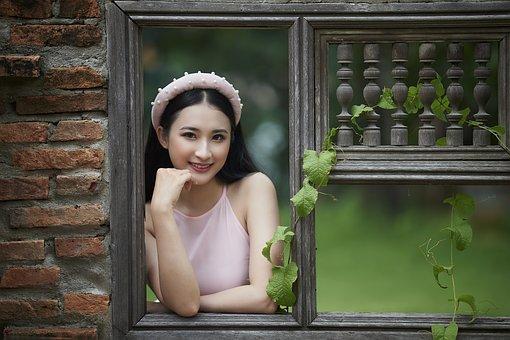 Woman, Model, Fashion, Dress, Pose, Posing, Window