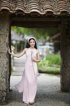 Woman, Model, Pose, Fashion, Dress, Flower, Posing