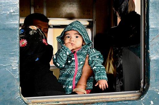 Baby, Passenger, Train, Innocent, Child, Kid, Cute