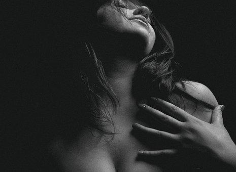 Woman, Nude, Portrait, Monochrome, Naked, Nudity