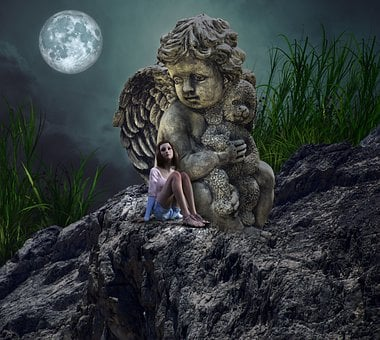 Night, Darkness, Silence, Sad, Protection, Angel, Lost