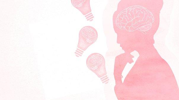 Woman, Brain, Thinking, Reflections, Psychology