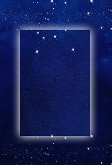 Star, Universe, Frame, Background, Border, Creative