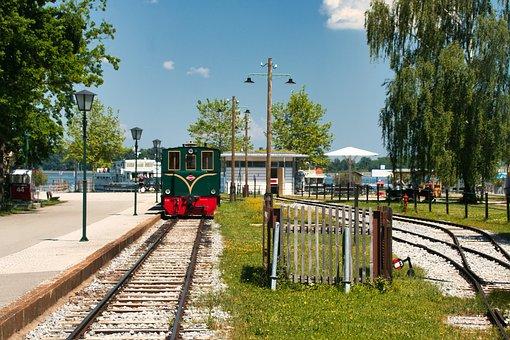 Train, Railroad, Chiemsee, Herrenchiemsee, Herreninsel