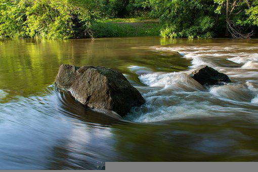 Stone, Rocks, River, Water, Forest, Waterfall, Nature