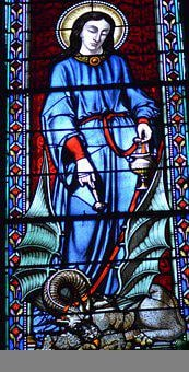 Stained Glass, Window, Church, Halo, Saint, Woman