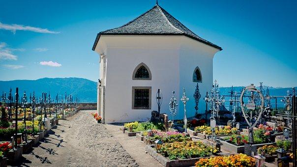 Chapel, Cemetery, Graves, Aldino, Resting Place