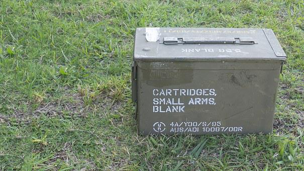 Ammo, Box, Storage, Ammunition, Army, Military, War