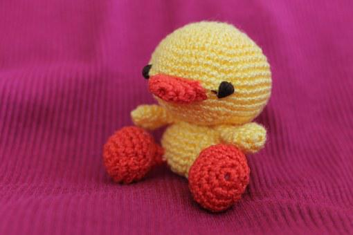 Duck, Toy, Crochet, Tiny, Animal, Small, Bird, Cute
