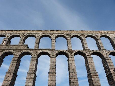 Aqueduct Of Segovia, Aqueduct, Spain, Architecture