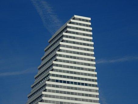 Skyscraper, Tower, Sky, Blue, Luxury, Blue Sky, White