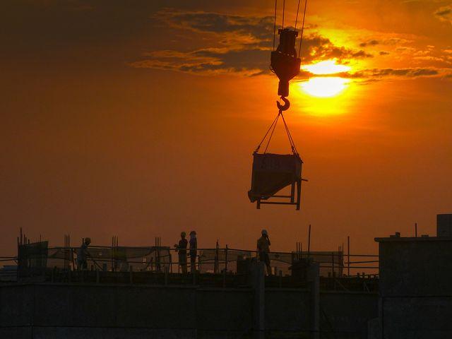 Construction, Crane, Building Construction, Helmet