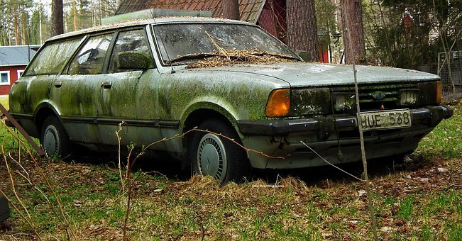 Ford, Taunus, Cars, Automobile, Junkyard, Abandoned