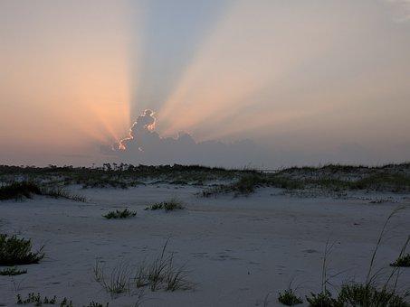 Beach, Cloud, Sunset, Pensacola, Perdido Key