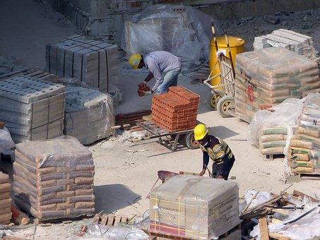 Construction, Site, Building Construction, Helmet